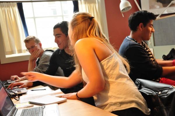 Robin, Aziz, Cecilia och Serhat kämpade alla hårt för att förstå sina frågeställningar.