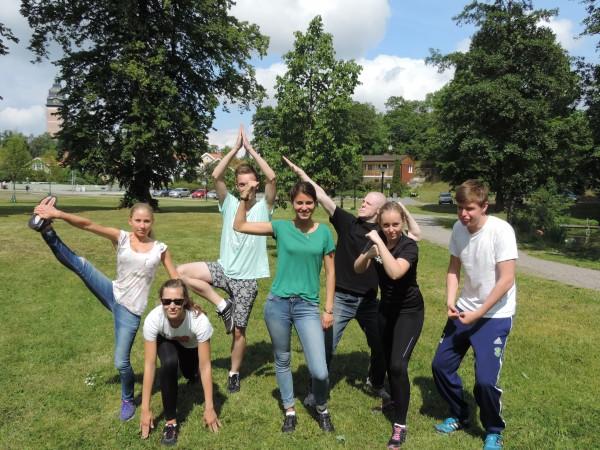 Gruppfoto på våra kära Fermiams!