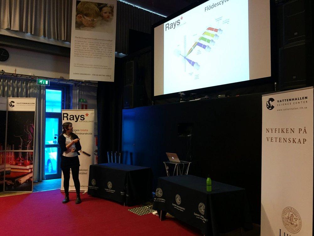Klara Kiselman presenterar metoden flödescytometri