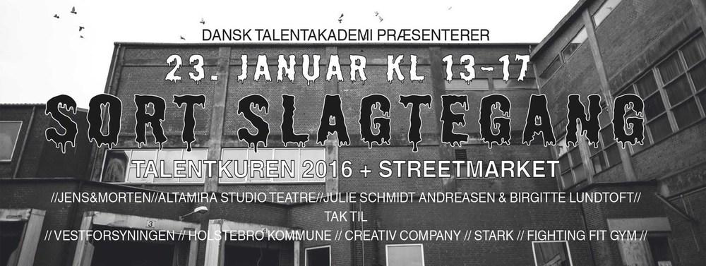 SORT SLAGTERGANG + STREET MARKET