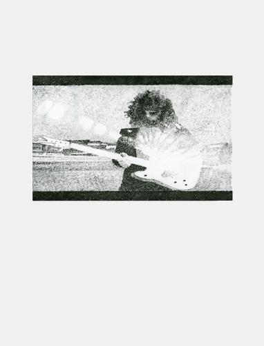 ELO 2012 graphite on mylar 56.0 x 42.0 cm