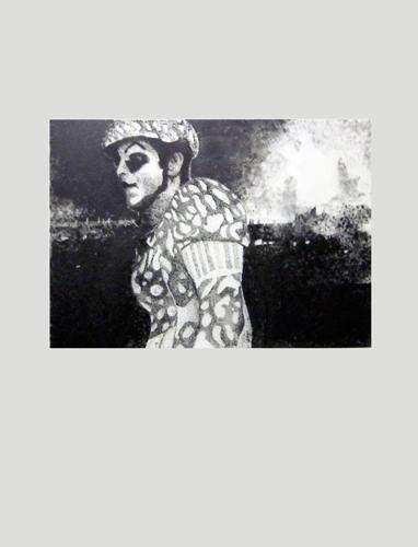 Hells  2012 graphite on mylar 56.0 x 42.0 cm