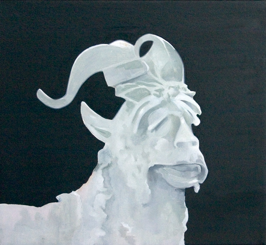 The   anathemist  3  2008 oil on canvas 30 .0 x 30.0 cm