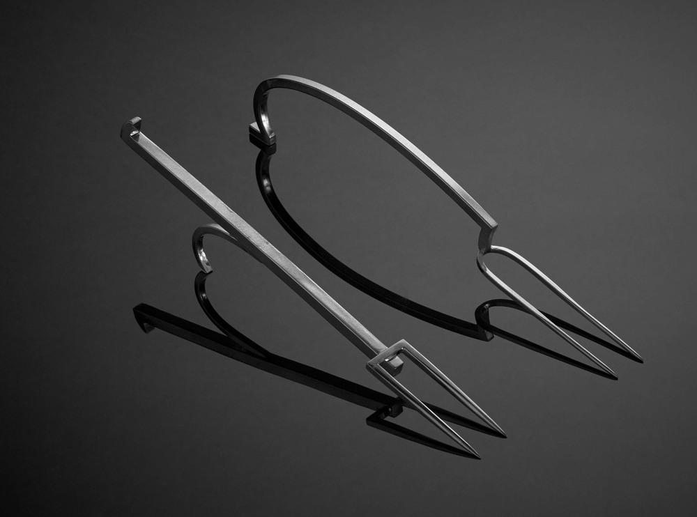 "F-07 \ F-02 </br>Large Serving Forks, 7"" to 8""."