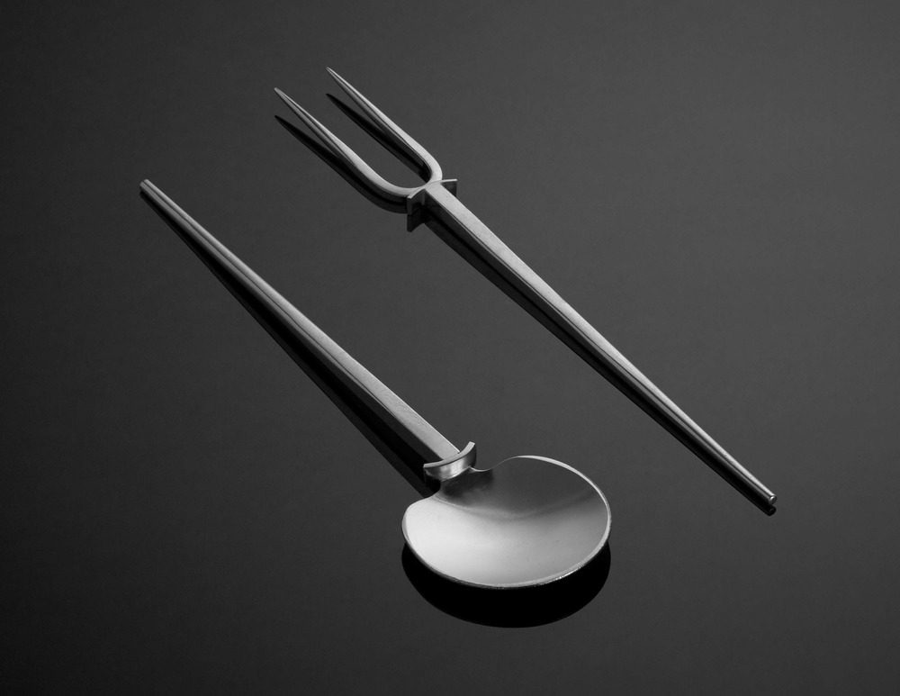 """S-01\see """"Forks""""  Large Serving Spoon, 7.25"""""""