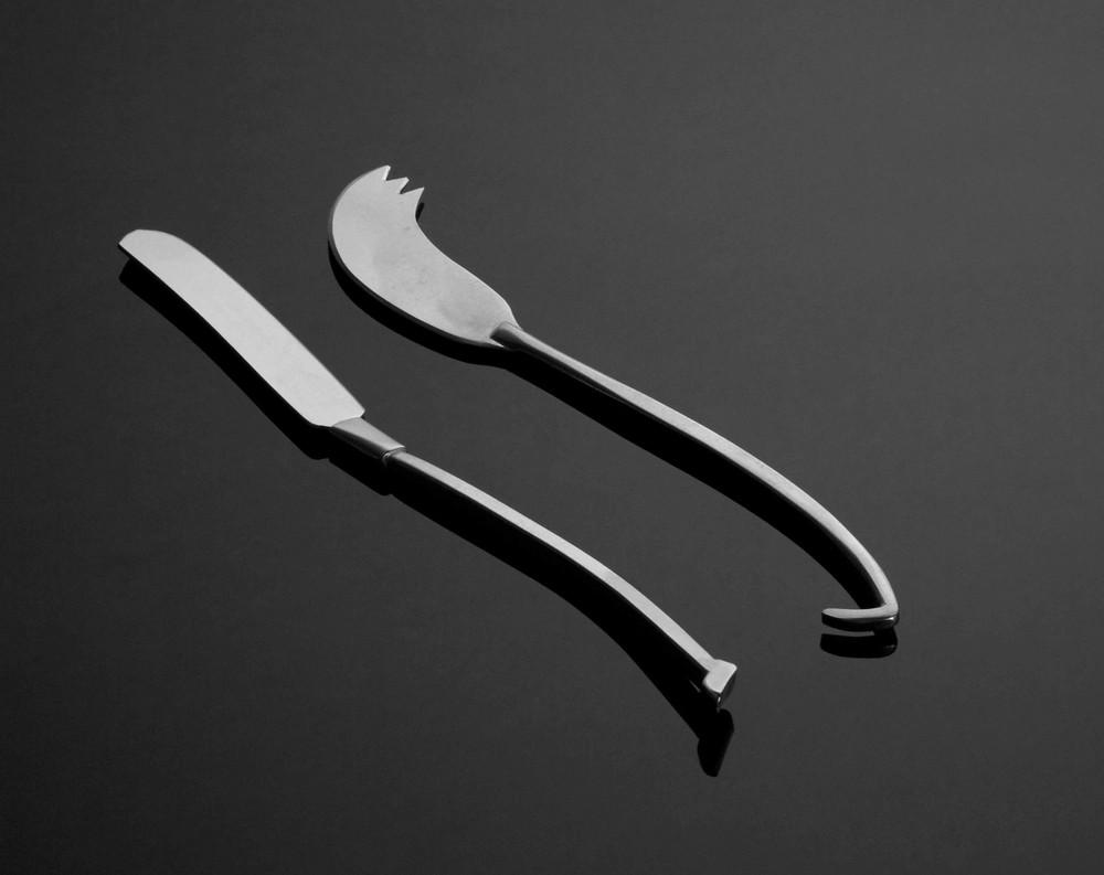 """K-01/K-02  Cheese Knives, 6.5"""""""