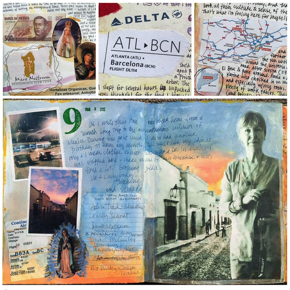 Judy's journal page from a trip to Spain