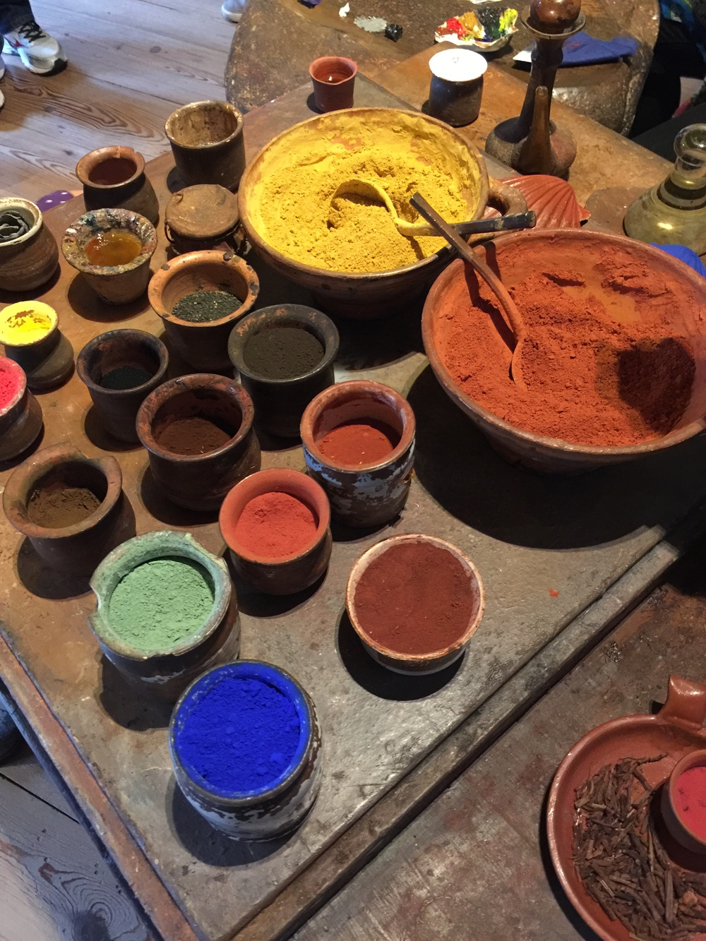 Pigments in Rembrandt's studio
