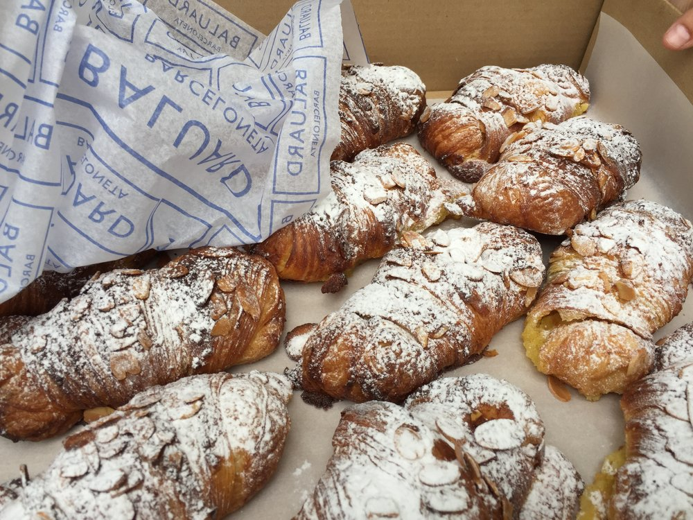 Had to take the picture quickly because these almond croissants flew out of the box. Best I have ever had - including Paris