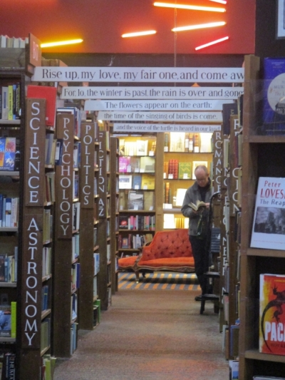 Barter Books, the little bookstore in the village that also has a cafe