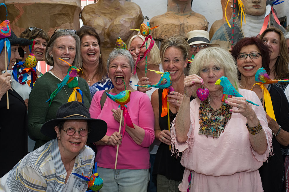 Fiesta Flores, San Miguel de Allende,  with Carla Sonheim and Lynn Whipple  Photo by Sean Reagan