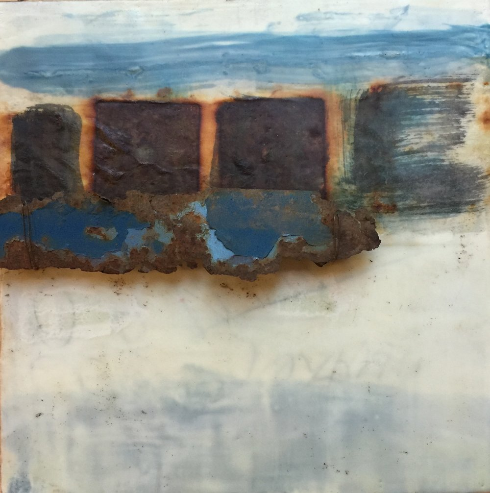Encaustic painting by Kathie Vezzani
