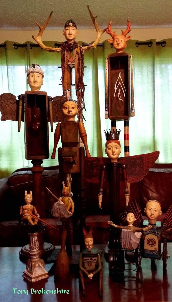 Some of Tory's dolls