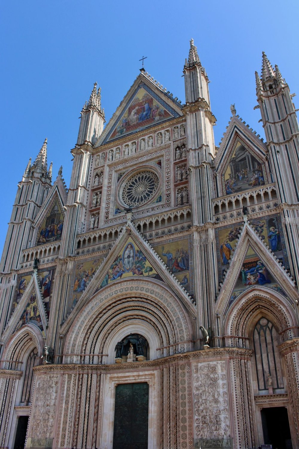 Orvieto Church with mosaics made by artistans of Piegaro