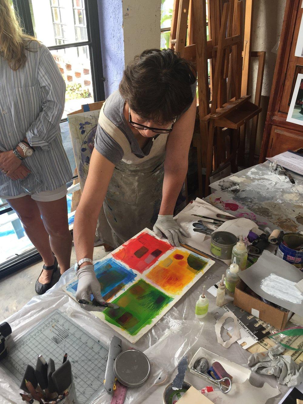 Pamela teaching glazes