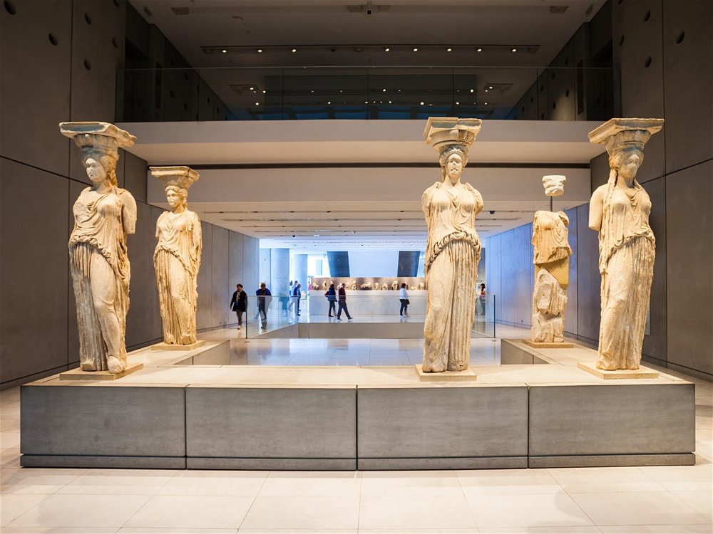 The Erectheion at the stunning Acropolis Museum