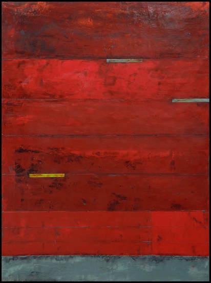 Pompeii Encaustic, oil on wood by Graceann Warn