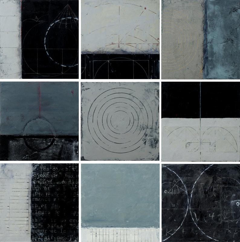 Grey Tile Set by Graceann Warn