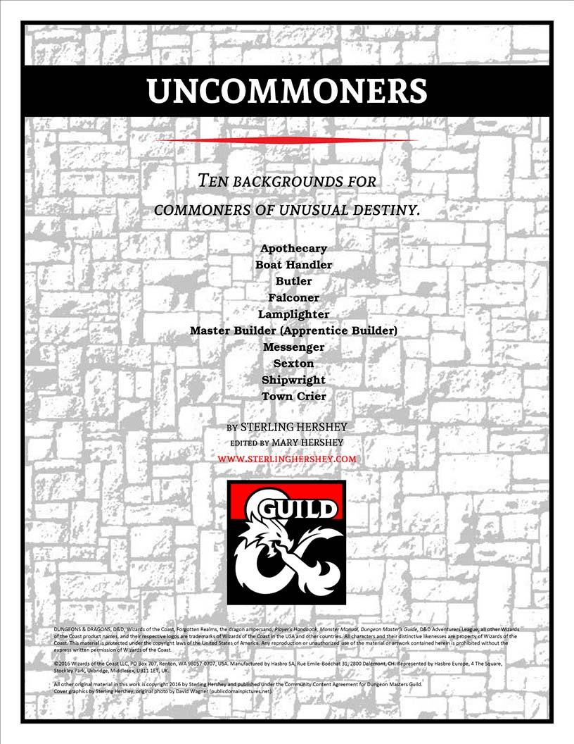 D&D Uncommoners (DMs Guild)