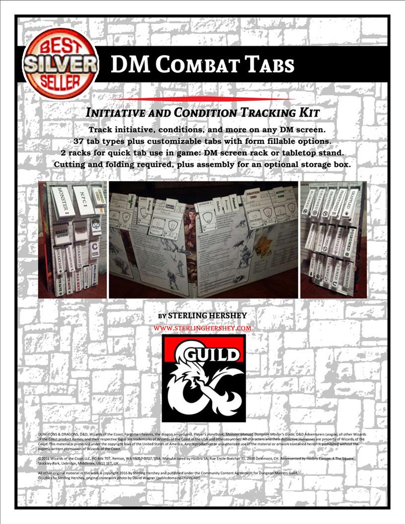 D&D - DMs Guild: DM Combat Tabs