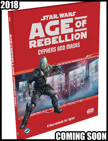 Star Wars Age fo Rebellion Cyphers and Masks
