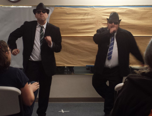 GM Phil as Elwood Blues, and his brother as Jake.