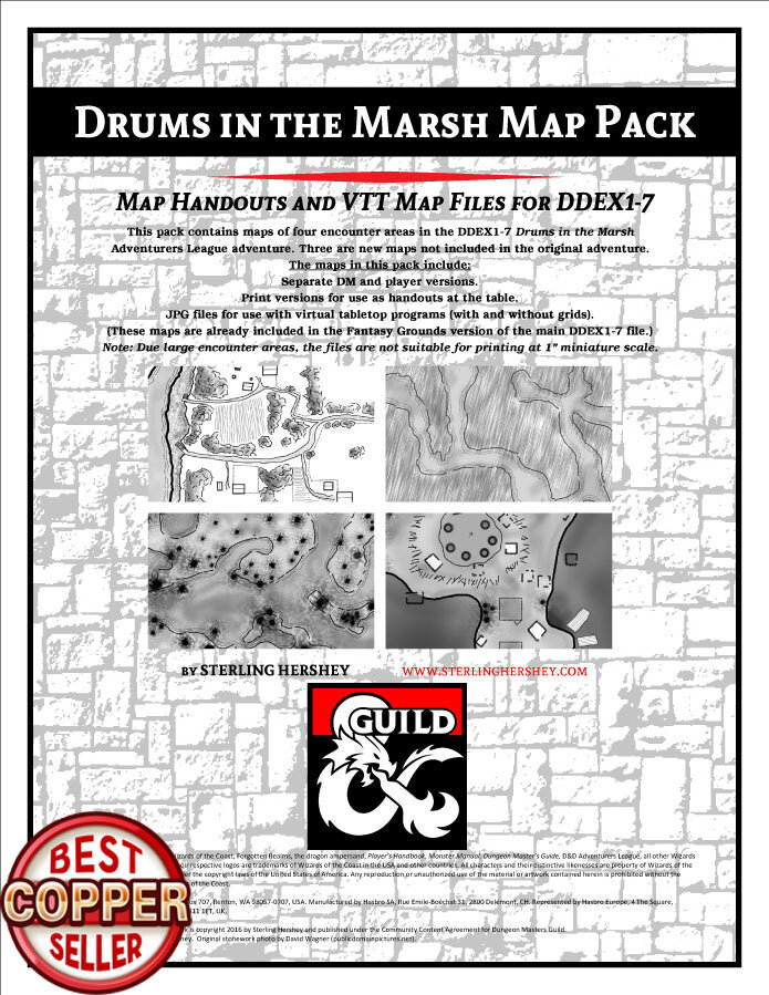 D&D DDEX1-7 Drums in the Marsh Map Pack
