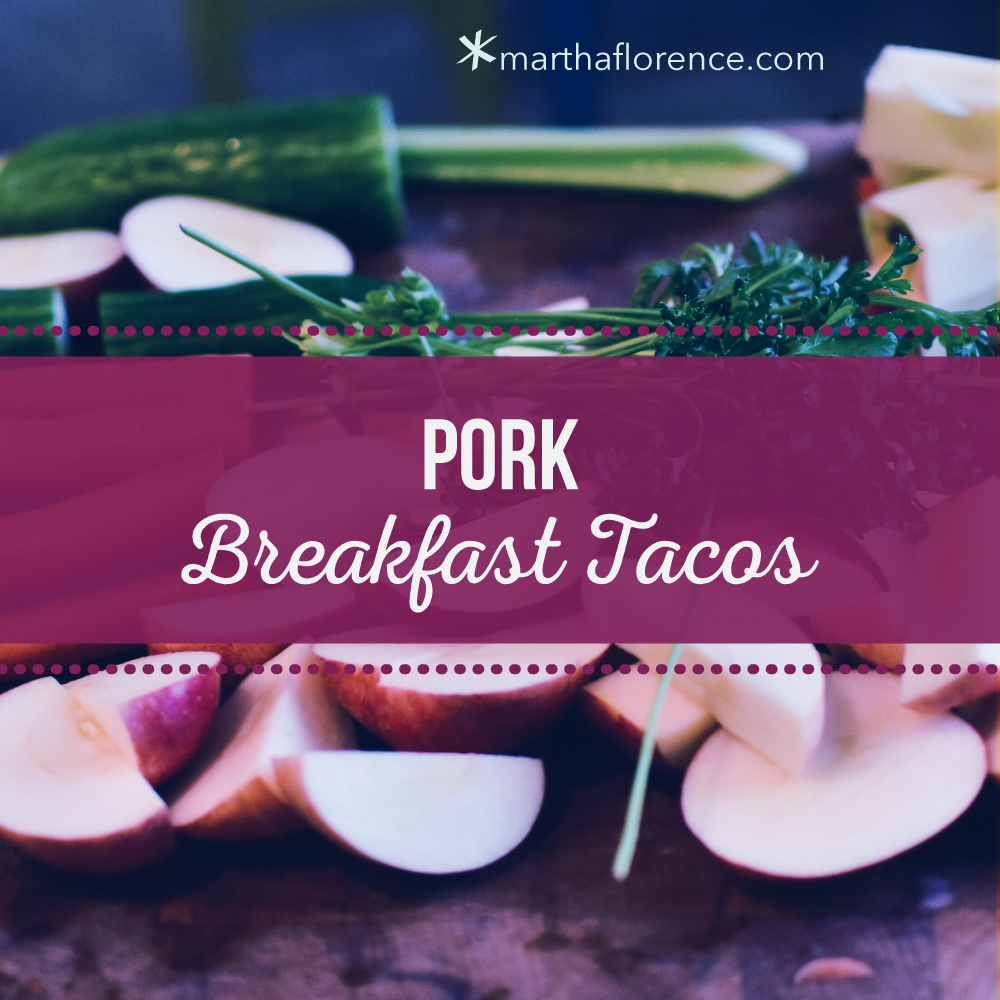 pork breakfast tacos