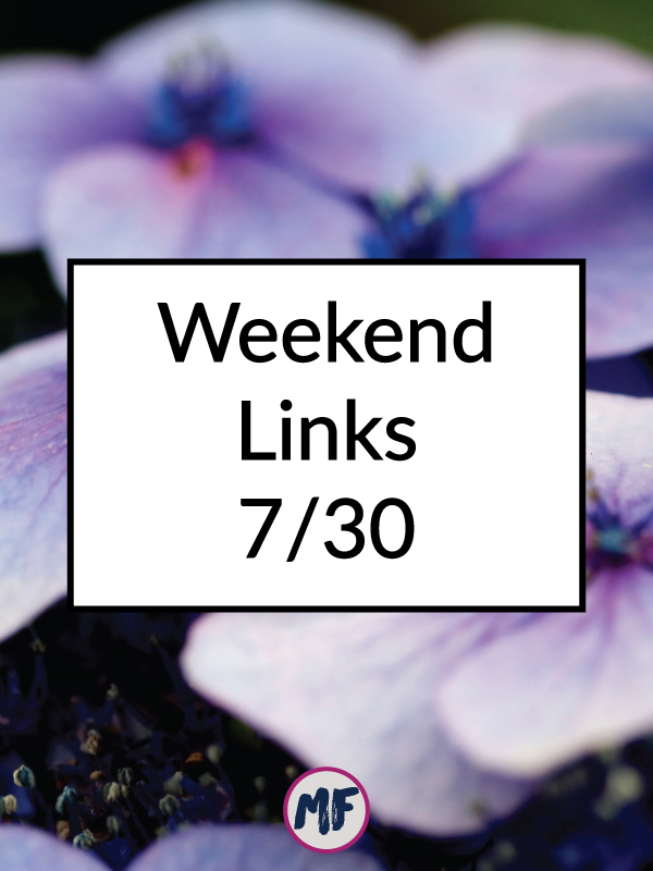 Weekend link roundup for July 30, 2016