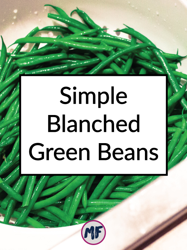 A fast and easy recipe for green beans that can be spiced up or eaten plain.