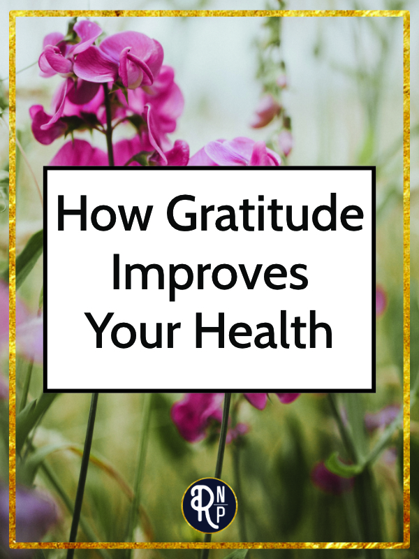 Gratitude impacts both physical and mental health. It lowers blood pressure, reduces pain perception, and helps you sleep better. Not only do these things improve your overall health, but they also impact your training and recovery.