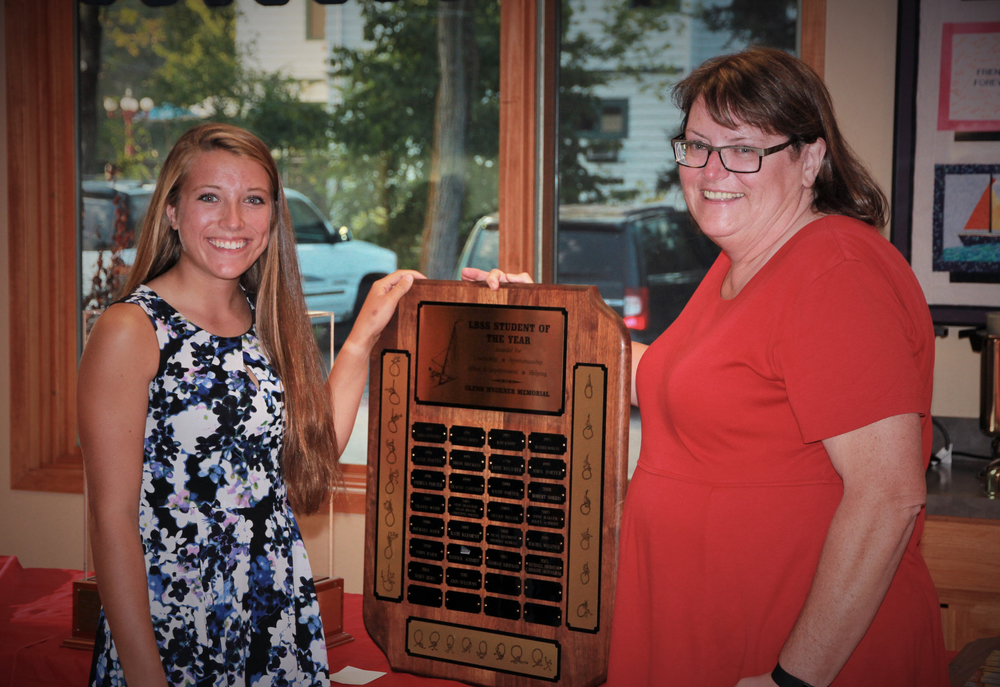 2015 Winner Erin Sullivan with Anne Humphrey.