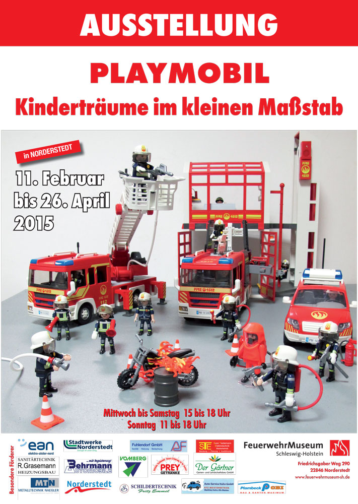 Plakat zur Playmobil-Ausstellung