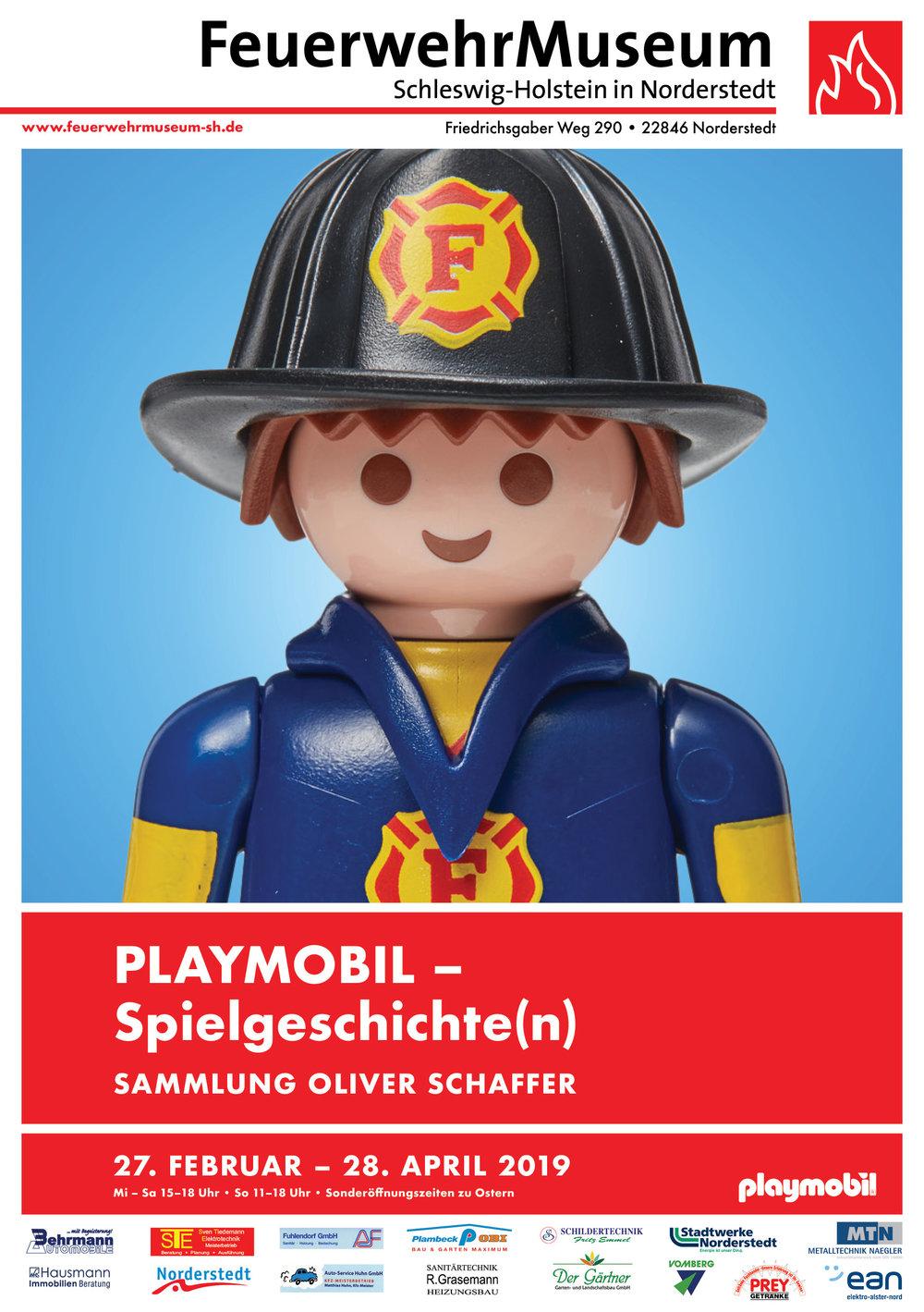 Poster Feuerwehrmann in Blau