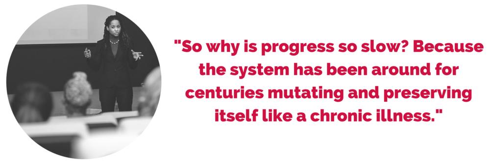 Acasia Olson Quote on Progress