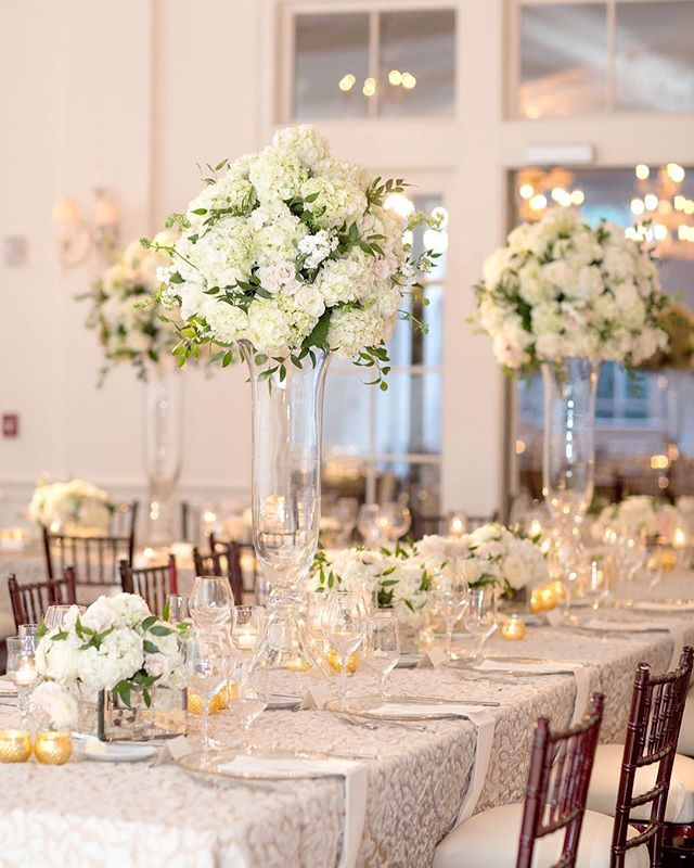 Fresh florals making a statement in these stunning centerpieces.