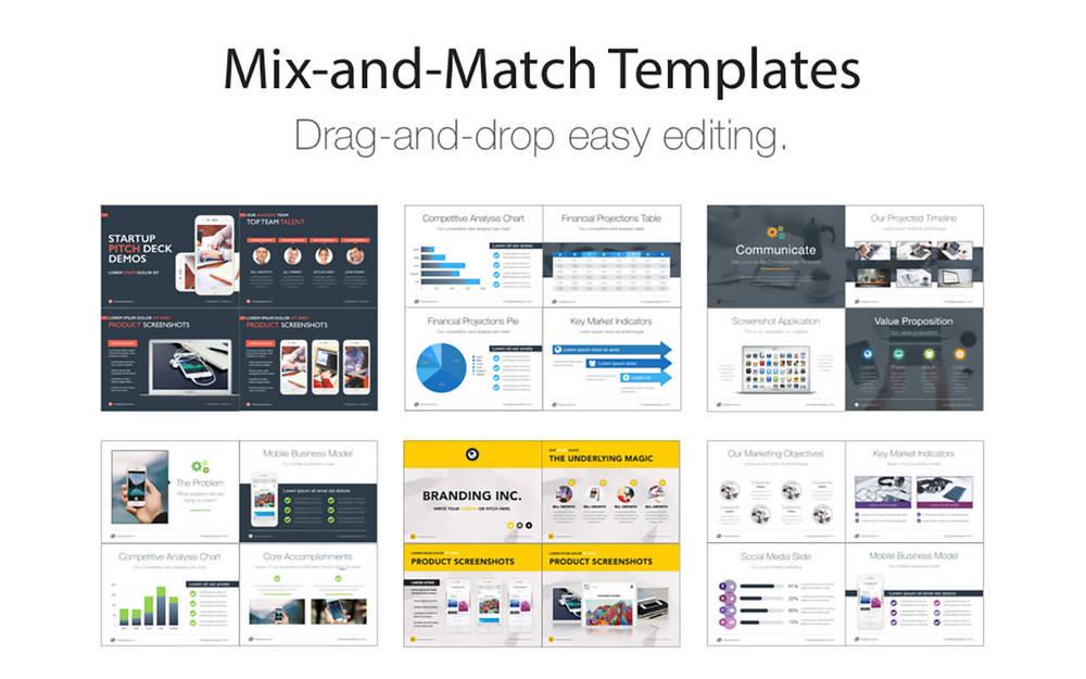 Keynote Pitch Deck Templates Deeda Designs - Keynote deck templates