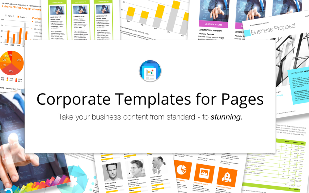 Pages corporate templates deeda designs view in mac app store wajeb