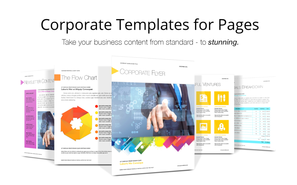 Pages corporate templates deeda designs view in mac app store cheaphphosting Image collections