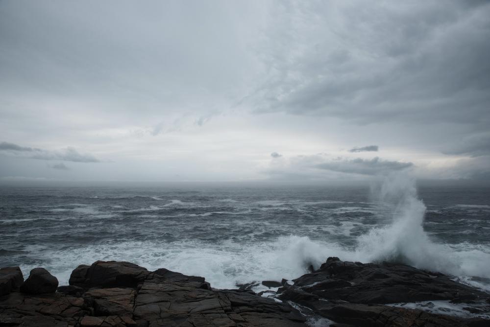 Waves crashing on Eastern shore of Nova Scotia near Peggy's Cove