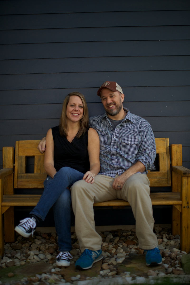 Will and Lindsey Heron, outside of the production studio