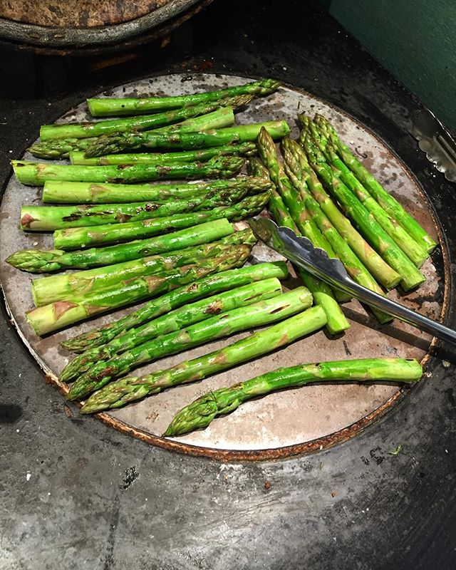 Spring asparagus AGA style. Happy Easter!