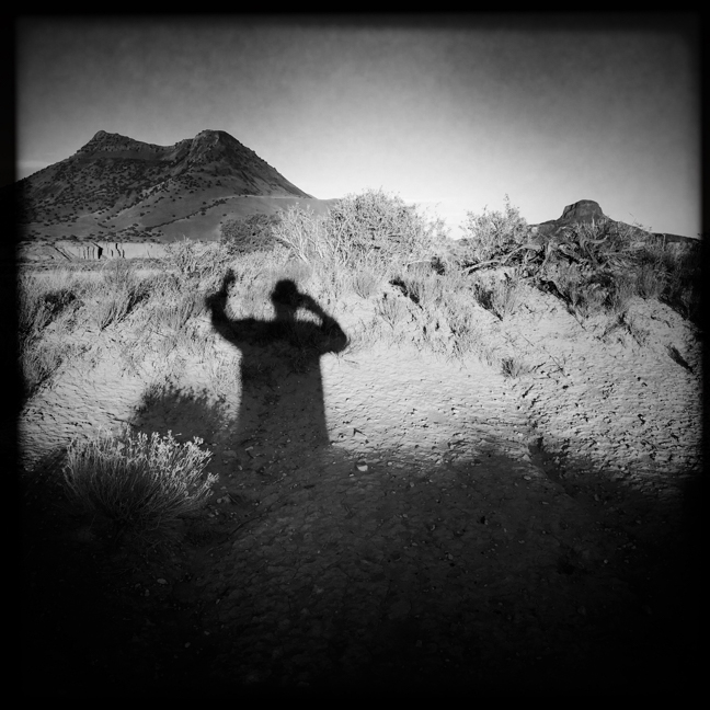 """Self and Shadow"" near Cabezon Peak, New Mexico"