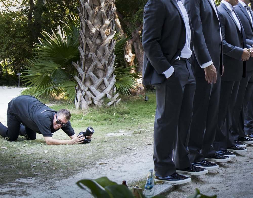 Videographer-Matt-Dockery-Gets-Low-Angle-Shot-During-Florida-Keys-Wedding-With-Photographer-Karrie-Porter.jpg