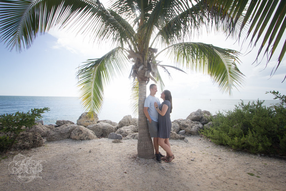 Fort Zachary Taylor has some low hanging palm trees that are great for portraits