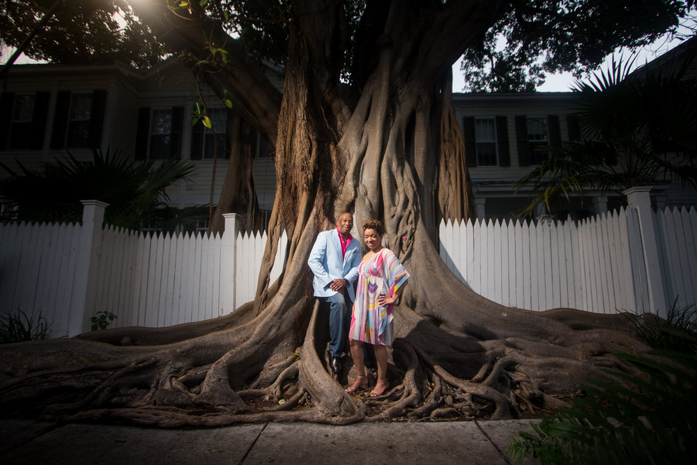 Key west has banyan trees all over the city, but this one is a little more tucked out of plain sight.