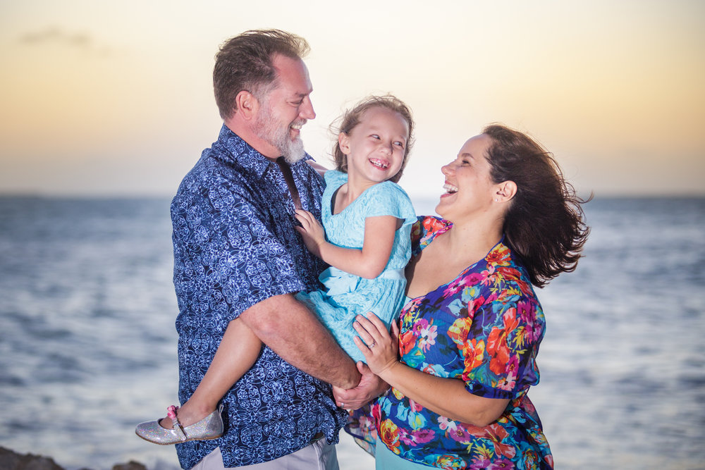 Small Family at Sunset in Key West.jpg