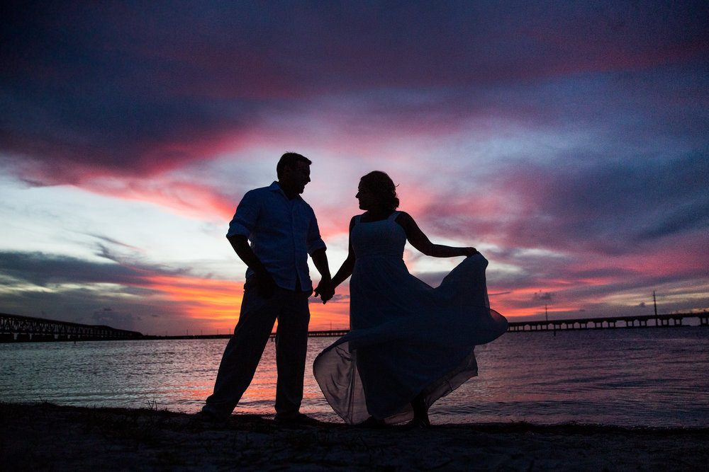 Key West Wedding Photographer Karrie Porter Silhouette Sunset.jpg
