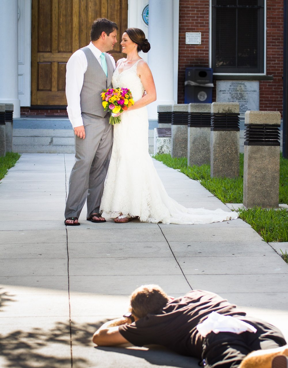 If your photographer assumes an unlikely position, just roll with it….
