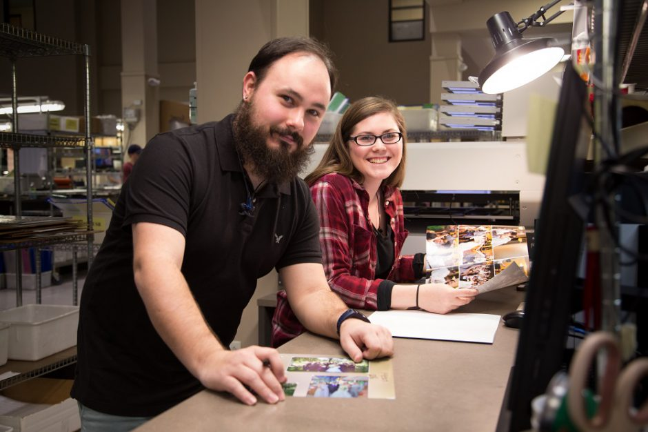 Real life colorists and print makers at our professional lab in Columbia, MO.